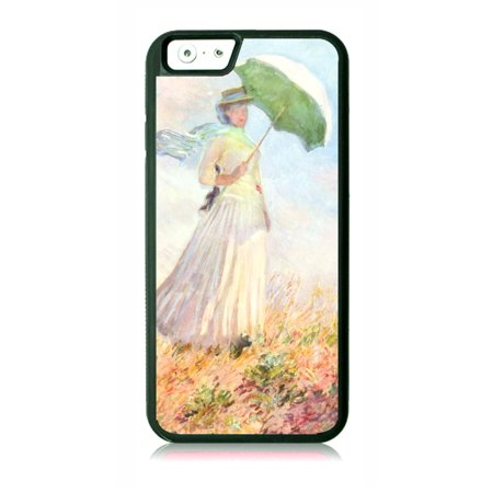Artist Claude Monet's Woman with a Parasol Painting Black Rubber Case for the Apple iPhone 7 / iPhone 8 - iPhone 7 Accessories - iPhone 8 Accessories (7 Parasols)