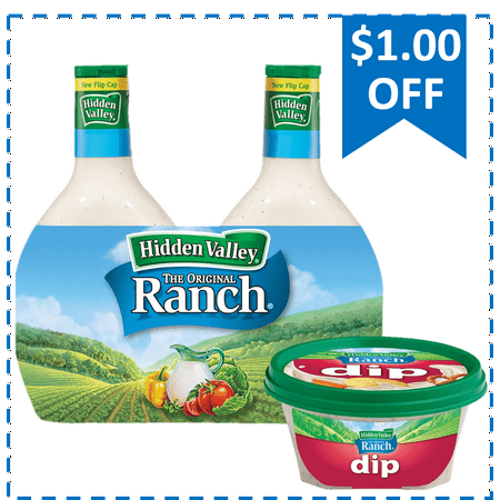 Buy and Save: Hidden Valley Ranch 24 oz Twin Pack & NEW HVR Bacon Ranch (Hudson Valley Beacon)