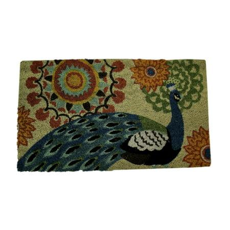 Coir Mat, Peacock -