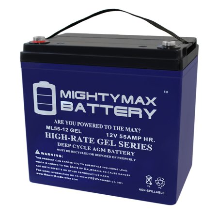 12V 55AH GEL Battery for Minn Kota Endura Trolling Motor (Minn Kota Trolling Motor Battery)