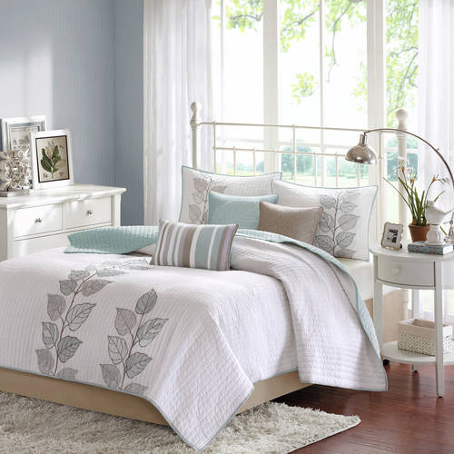 Home Essence Marissa Printed 6 Piece Quilted Coverlet Bedding Set