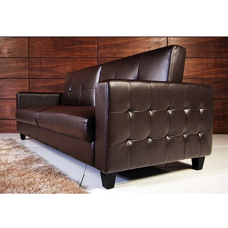 Rome Faux Leather Convertible Sofa Bed, Multiple Colors - Walmart.com