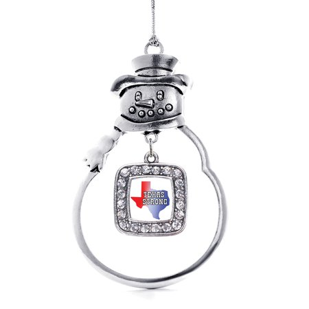 Texas Strong Classic Snowman Holiday Ornament](Texas Snowman)
