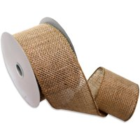 Morex Ribbon, Wired Burlap Ribbon, 2-1/2 in x 10 yd, Natural