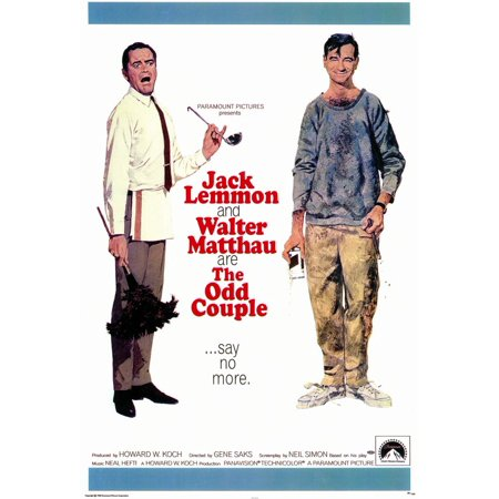 The Odd Couple (1968) 11x17 Movie Poster - Famous Couples From Movies For Halloween