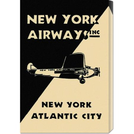 Global Gallery  Retro Travel New York Airways Inc Stretched Canvas Art