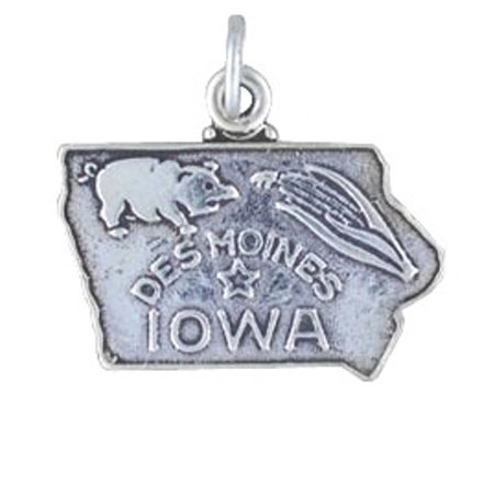Iowa State Charm (Sterling Silver 7