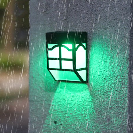 Waterproof Outdoor Solar-Powered Fence Lamp Yard Stair Street Light - Fence Decorations