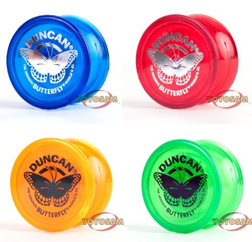 Duncan Butterfly lot - Four New Yo-Yos - FREE Strings! (Colors Vary)