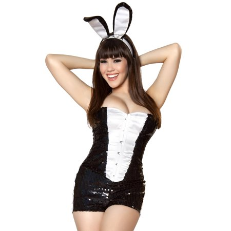 Roma Sexy Bunny Rabbit Tuxedo Burlesque Cabaret Halloween Costume (Burlesque Halloween London)