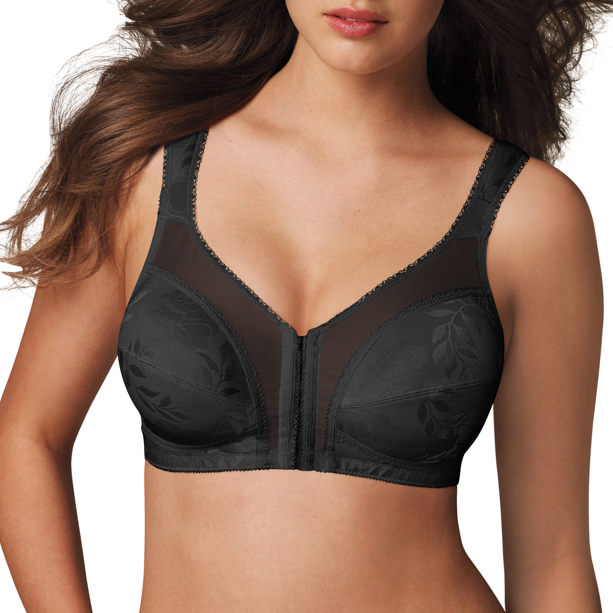 Playtex 18 Hour Front-Close Wirefree Bra with Flex Back, Style 4695