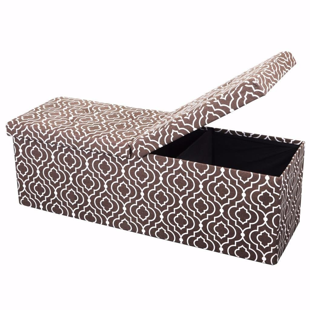 Otto & Ben 45 Inch SMART LIFT TOP Ottoman Bench, Multiple Patterns