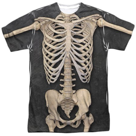 Skeleton Costume Mens Short Sleeve Sublimation Shirt](Skeleton Shirts)