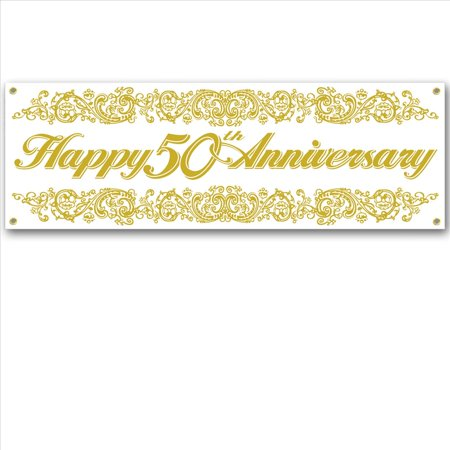 50th Anniversary Sign Banner - Anniversary Signs