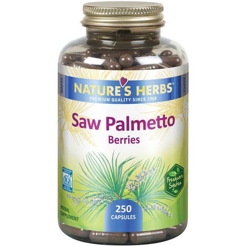 Nature's Herbs Single Herb Saw Palmetto Berries, 250 CT