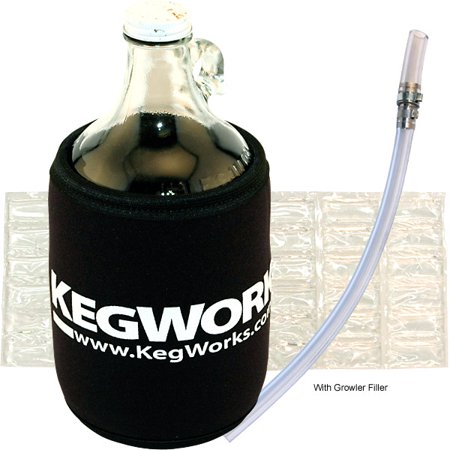 KegWorks Glass Beer Growler Essentials Kit - Without Growler Jug - Essentials Jug