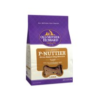 Old Mother Hubbard Classic Crunchy Natural Dog Treats, P-Nuttier Large Biscuits