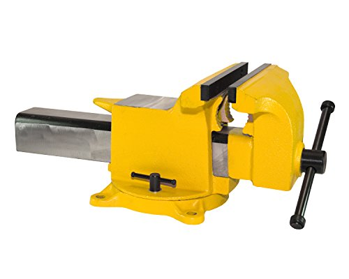 "Yost Vises 908-HV 8"" High-Visibility Heavy Duty Steel Bench Vise by Zenith Innovations Inc"