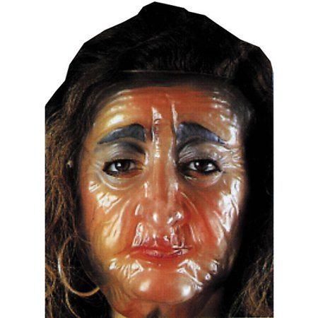 Plastic Old Female Transparent Mask Halloween Accessory](Old Fashioned Plastic Halloween Masks)