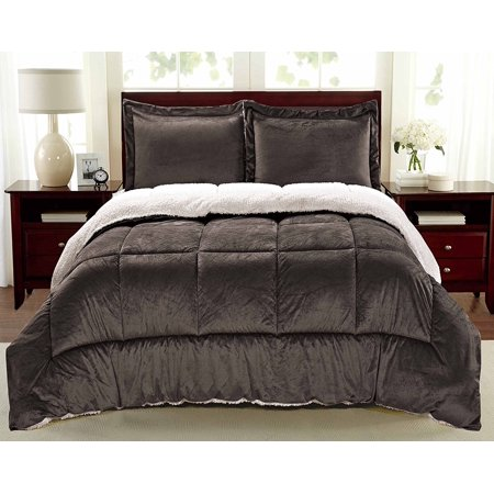 Laurel Park® Ultra-Plush Reversible Micromink and Sherpa 3-Piece Comforter with Pillow Shams
