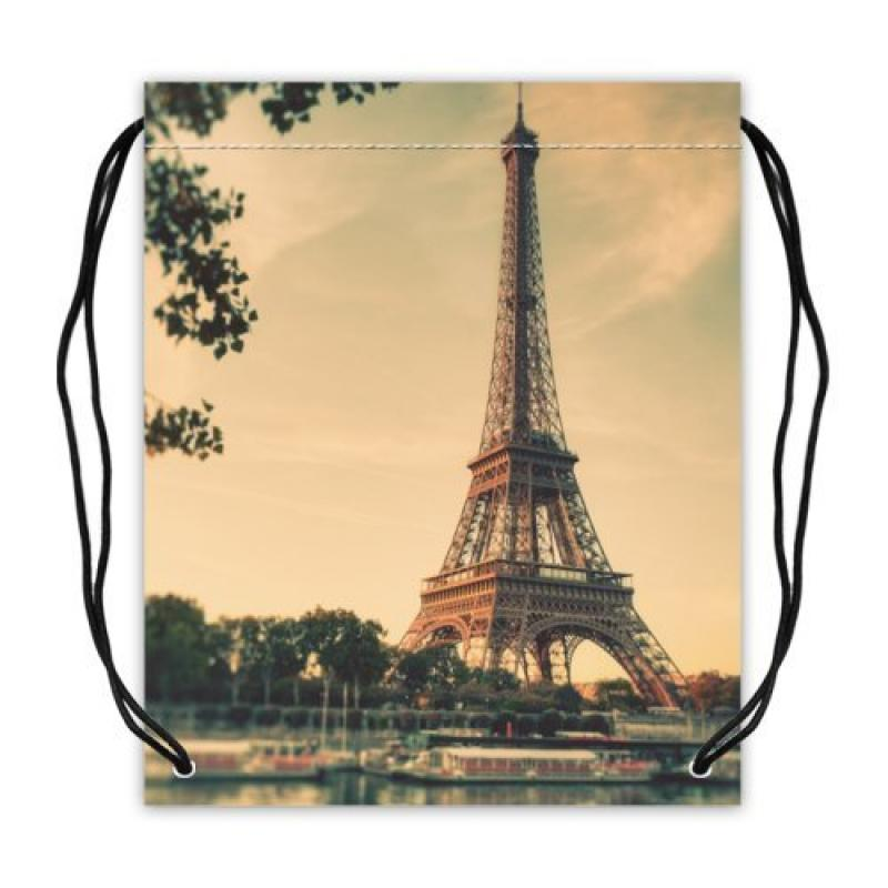 Durable Paris Eiffel Tower Sport Basketball Equipment Bag...