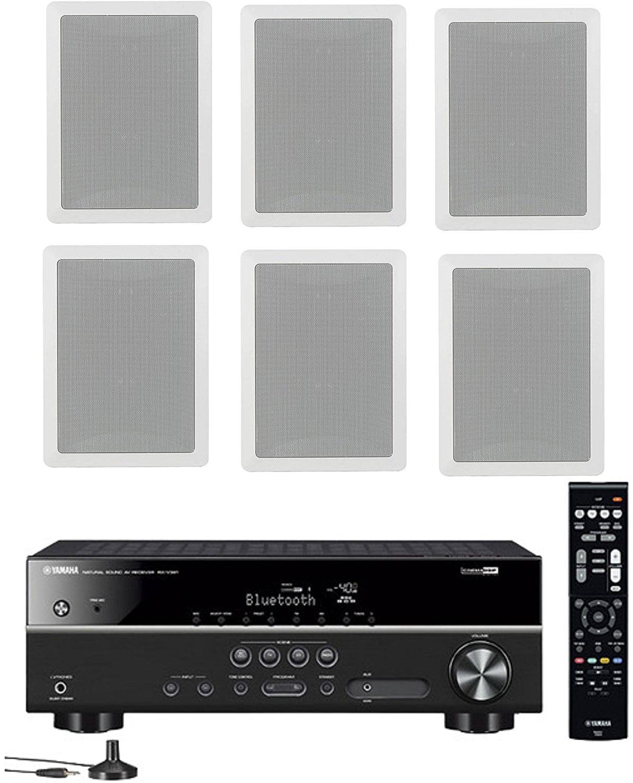 Yamaha 5.1-Channel Wireless Bluetooth 4K A V Home Theater Receiver + Yamaha... by Yamaha
