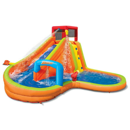 Banzai Lazy River Inflatable Outdoor Adventure Water Park Slide and Splash Pool