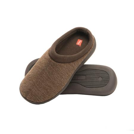 Hanes Men's Memory Foam Indoor Outdoor Clog Slipper Shoe with Fresh