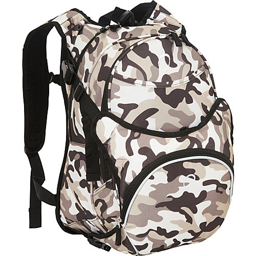 Obersee Munich School Backpack With Detachable Lunch Cooler - Camo