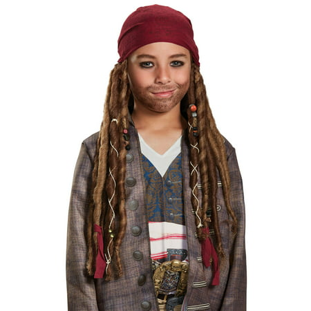 Pirates of the Caribbean 5: Jack Sparrow Bandana W/Dreads - Child