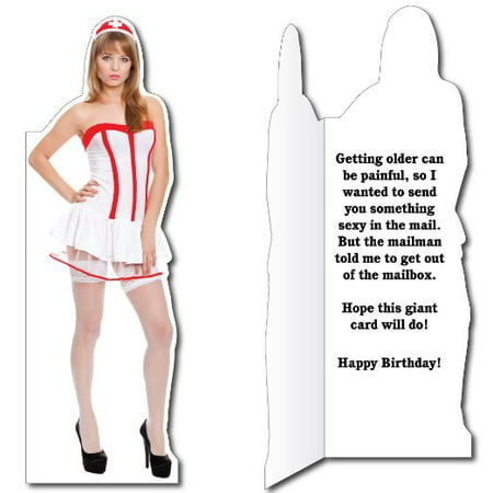 58 Sexy Nurse Birthday Card Wenvelope Life Size Greeting Card