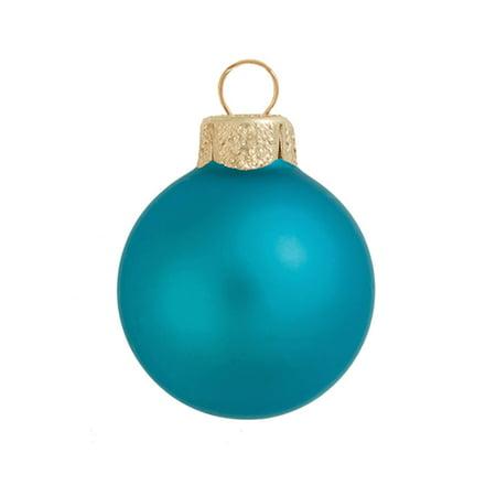 Northlight 8ct Matte Glass Ball Christmas Ornament Set 3.25