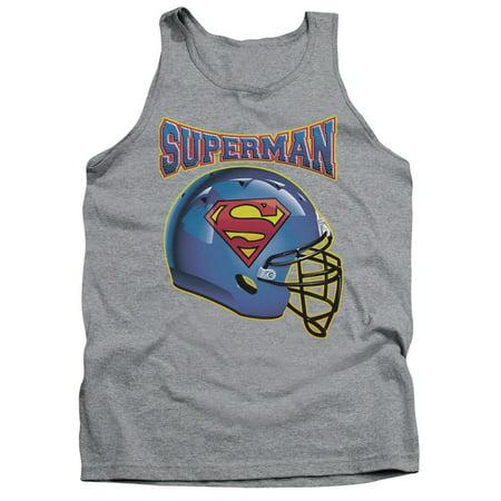 Superman DC Comics Football Helmet Adult Tank Top Shirt ()