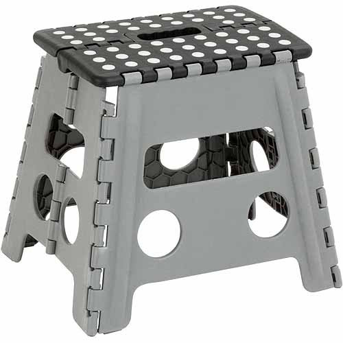 Honey-Can-Do Folding Step Stool, Gray