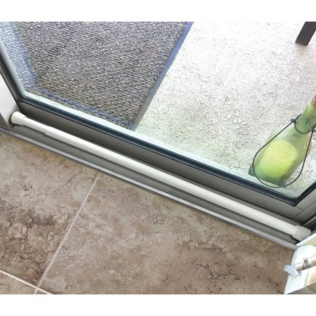 Sliding Door Steel Security Bar Prevents Forced Entry & Unlocks With A