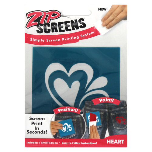 Zip Screen, Small Heart