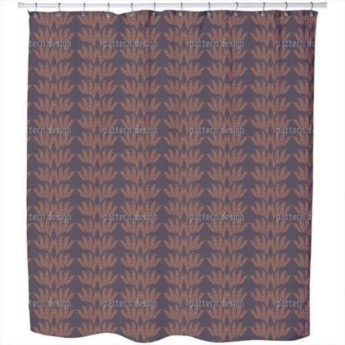 Uneekee Dotty Leaves Shower Curtain