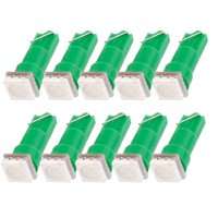 Unique Bargains 10PCS Green T5 5050 SMD 1  Auto Car Indicator Dashboard Lights Bulb Lamp