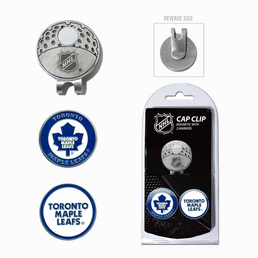 Toronto Maple Leafs Official NHL Golf Hat Clip Ball Marker Set Team Golf 15647