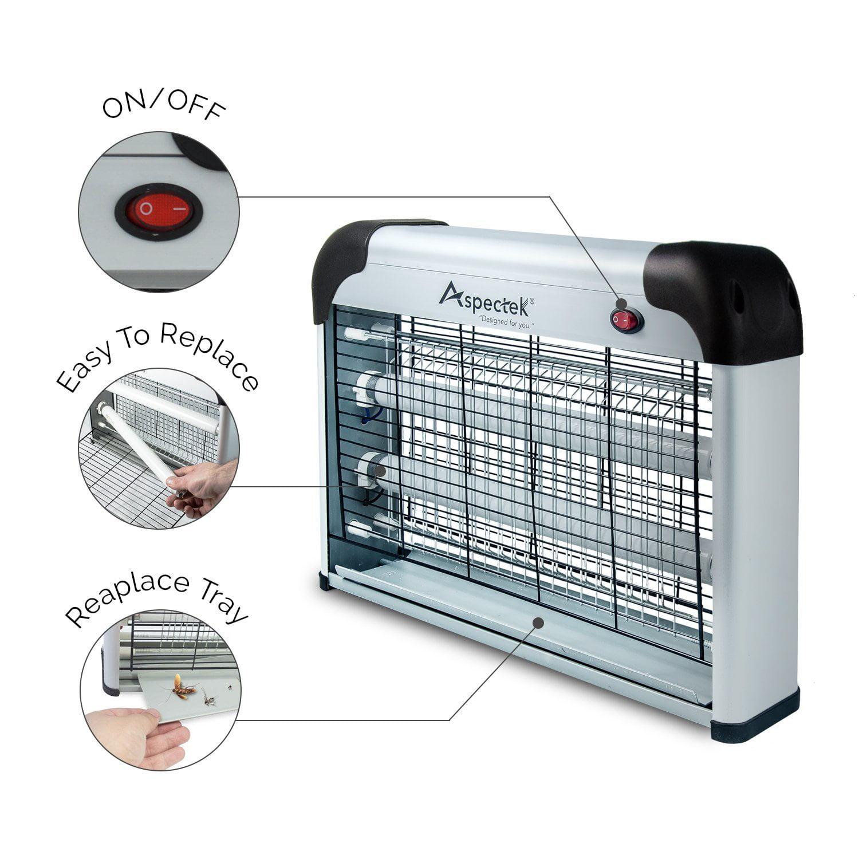 Aspectek Bug Zapper and Electric Indoor Insect Killer, Fly Killer, 2800V 20W Bulbs Powerful by Aspectek