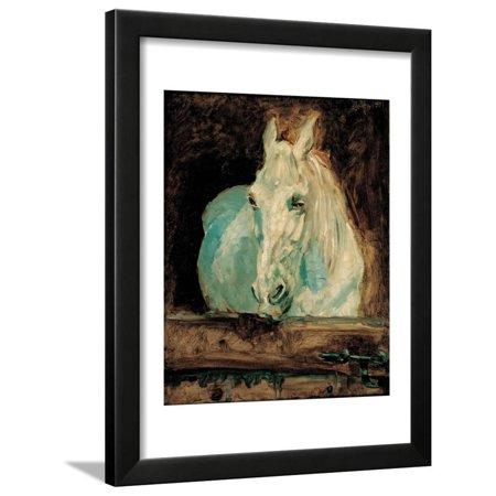 The White Horse Gazelle, 1881 Framed Print Wall Art By Henri de (Gazelle Frames For Sale)
