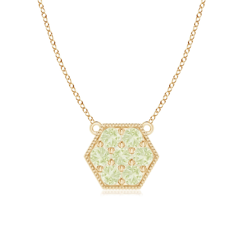 Angara Pave Set Diamond Hexagon Solitaire Ring with Milgrain AolpY