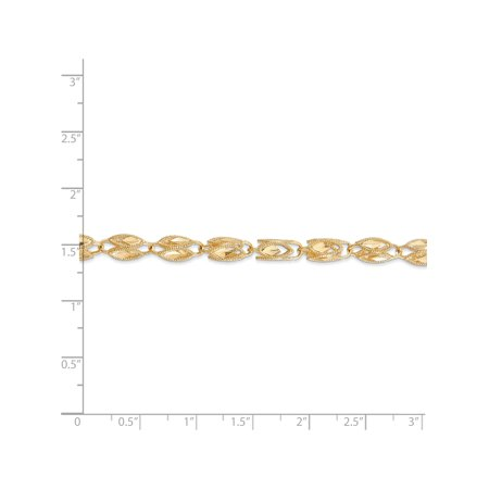 14k or jaune 4 mm Marquise Chain - image 3 de 5
