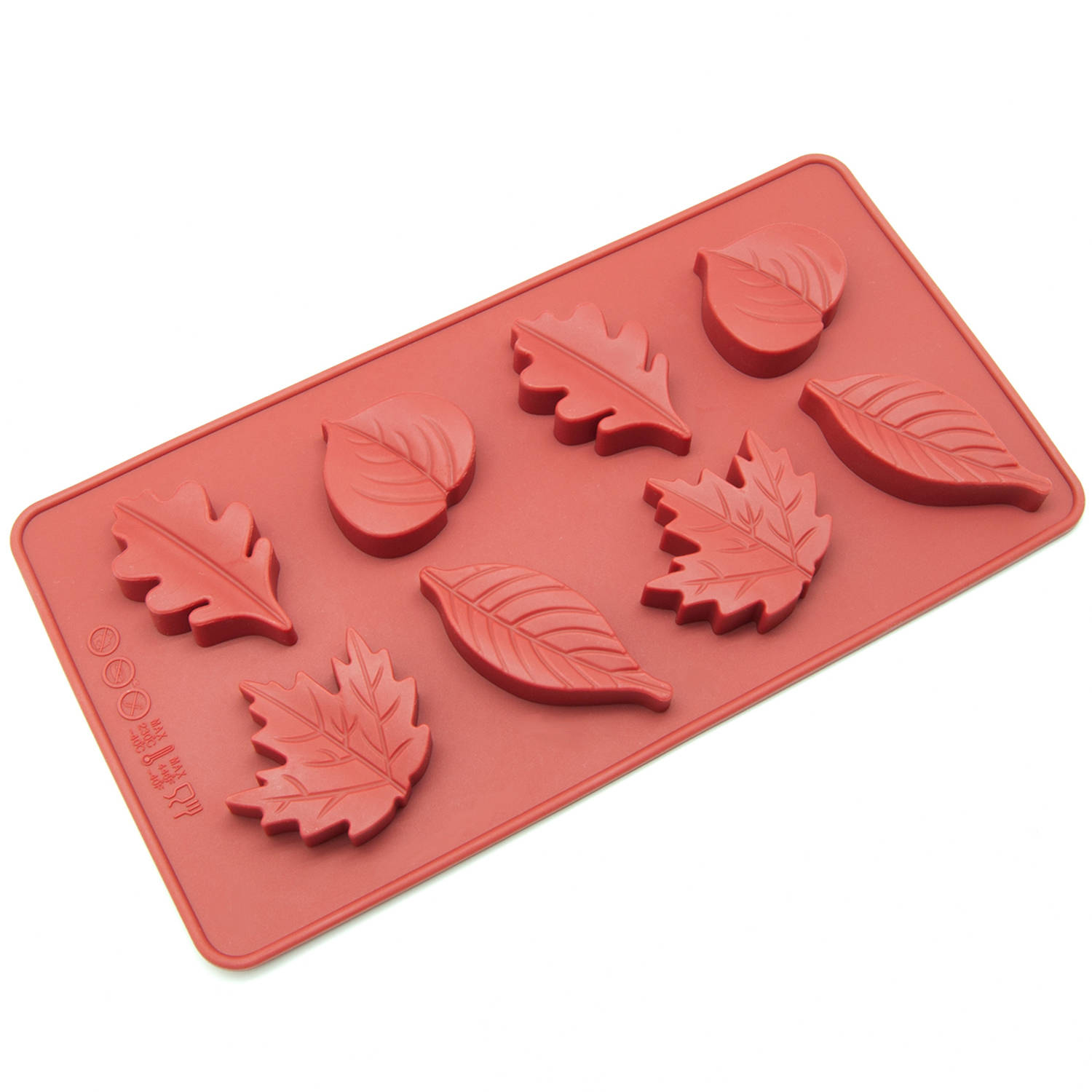 Freshware 8-Cavity Maple Leaves Silicone Mold for Chocolate, Candy and Gummy, CB-600RD