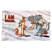 I Am Weasel Buddies Fleece Blanket White 48X80