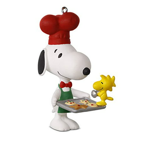Snoopy And Woodstock Christmas Ornaments.Hallmark Peanuts Spotlight On Snoopy 20 Cooking Keepsake Christmas Ornament