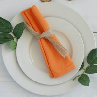 "Efavormart Pack of 5 Premium 20"" x 20"" Washable Polyester Napkins Great for Wedding Party Restaurant Dinner Parties"