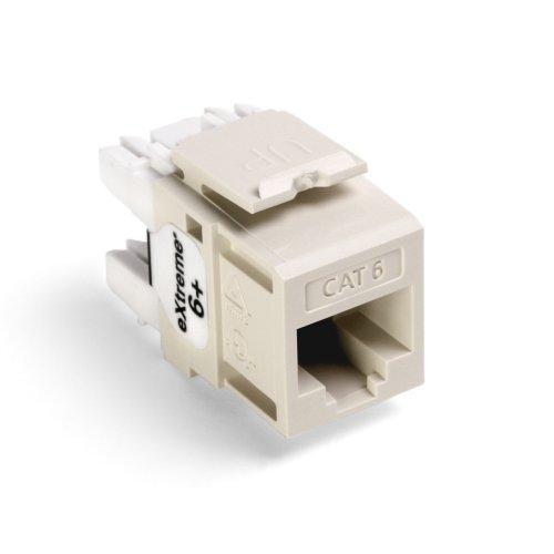 Leviton  61110-RT6 Snap In CAT6 Module Light Almond