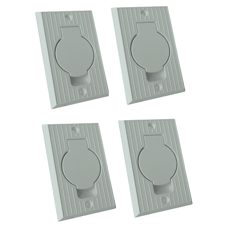 White Standard Central Vacuum Wall Valve Inlet for Built-in Vacuum Cleaners (4-Pack)