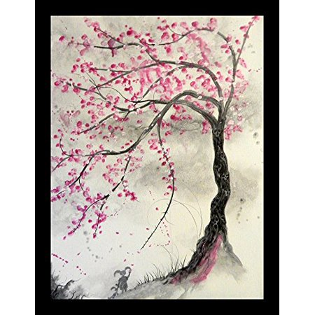 FRAMED Cherry Blossom Tree 16x12 Art Print Painting Decor Poster by Ed CapeauMADE IN THE USAComes ready to hangProfessionally framed Cherry Blossom Tree Art